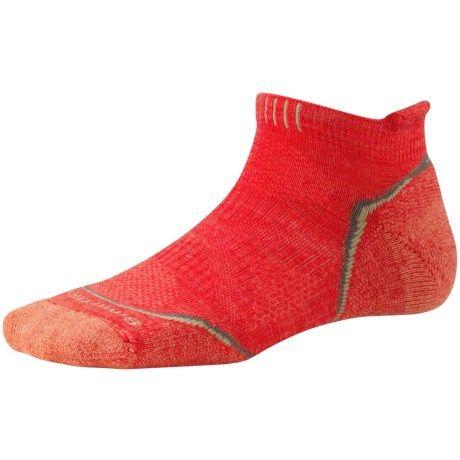 SmartWool PhD Outdoor Sport Socks - Merino Wool, Ankle (For Women) in Hibiscus