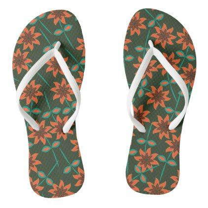 Lovely Floral Flip Flops - patterns pattern special unique design gift idea diy