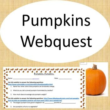 pumpkins webquest - Halloween Web Quest