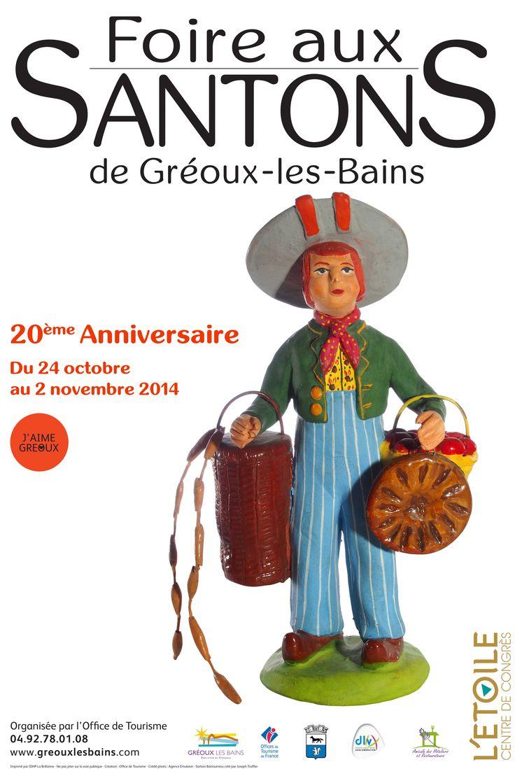 20 EME FOIRE AUX SANTONS DE GREOUX LES BAINS - Vendredi 24 octobre au dimanche 2 novembre 2014