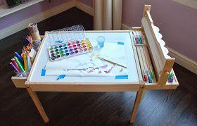 design ingenuity september 2013 kid art table ikea hack kiddie space pinterest. Black Bedroom Furniture Sets. Home Design Ideas
