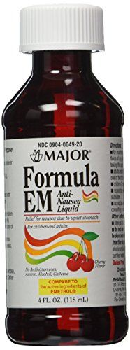 2 Pack of Formula EM 4oz Liquid For Nausea & Upset Stomach Cherry Flavored *Compare to Emetrol and Save*