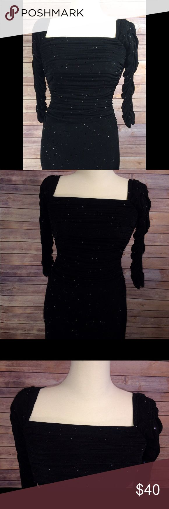 Laundry by Shelli Segal Black Evening Dress Black With silver within the fabric Laundry by Shelli Segal Dresses Wedding