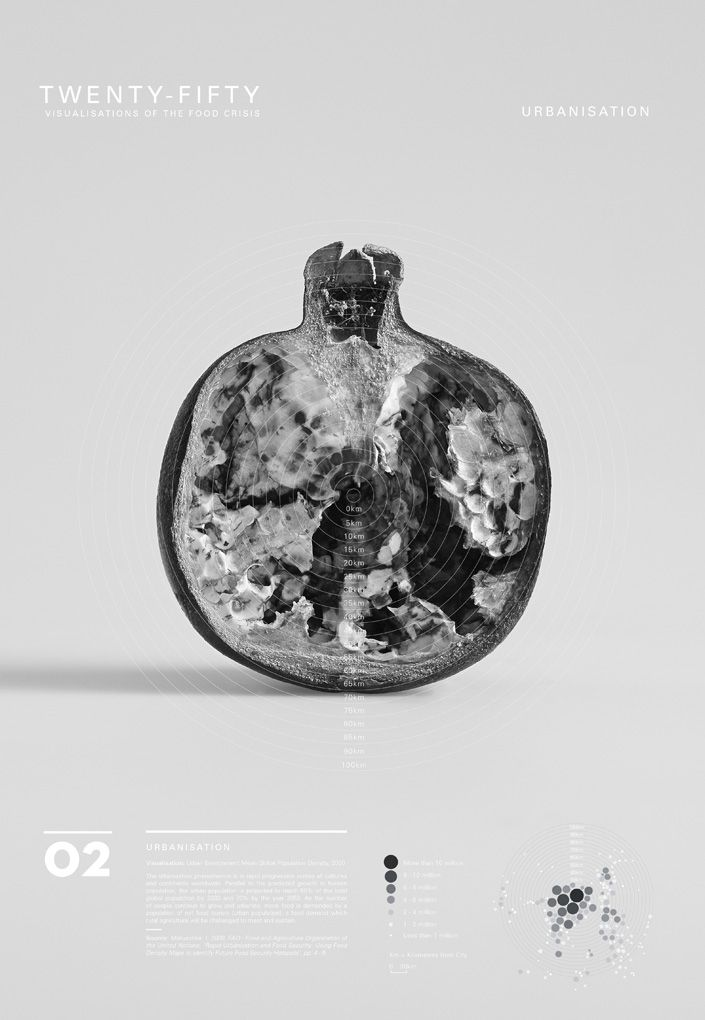 Twenty-Fifty is a visual exploration of the global food crisis predicted for the year two thousand and fifty.