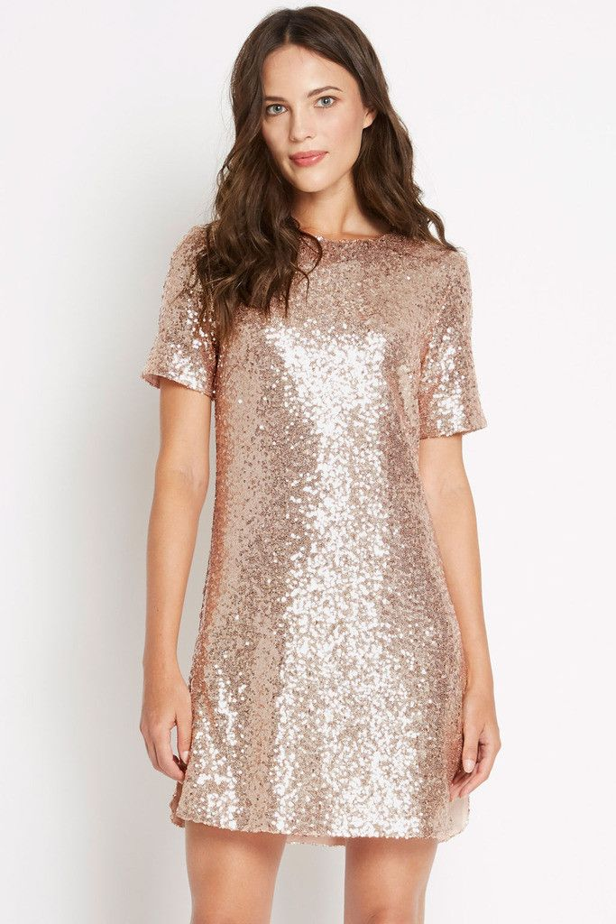 Count The Ways Sequin Shift Dress
