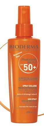 "Bioderma Photoderm BRONZ SPF 50+ Sun Spray 200ml by Bioderma Photoderm Bronz Spray SPF 50+ 200 Ml. $28.95. Very high sun protection for all skin types, aimed at activating, intensifying and durably prolonging their tan.. The MAXimum anti-UVB efficacy and unparalleled ""extreme anti-UVA"" performance of Photoderm BRONZ ensure protection against sunburn, prevent sun intolerance reactions and combat premature cutaneous ageing.  ? A major advance in cutting the risk of cellula..."