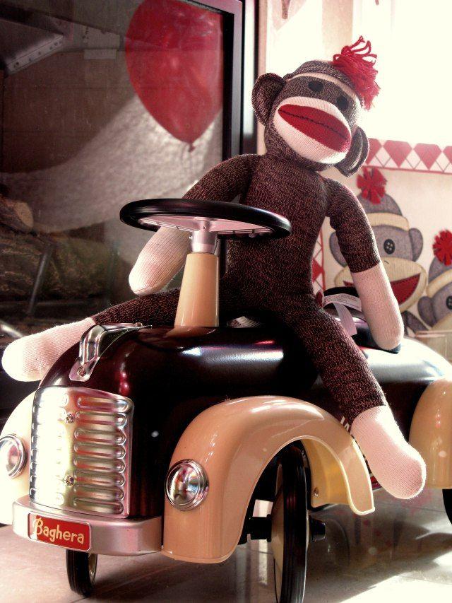 Baghera Car and Mr Sock Monkey  www.offpagentryplace.wordpress.com