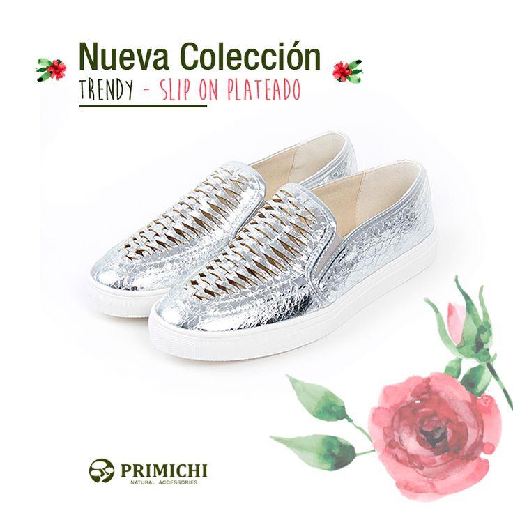 PRIMICHI zapatos mujer , slip on plateado. http://www.primichi.com/zapatillas-mujer?page=2