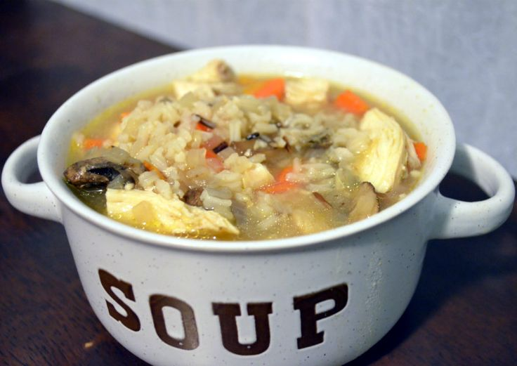 Chicken Shiitake and Wild Rice Soup - perfect for this cold weather!