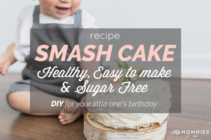 recipe: healthy sugar free smash cake for baby's birthday uses applesauce, bananas & coconut flour to sweeten. Delicious sugar free cream cheese icing too!