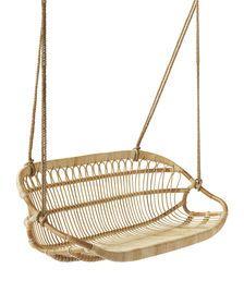 Hanging Rattan Bench