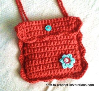 Crochet Purse / Shoulder Bag Pattern - free crochet pattern