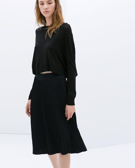 KNEE - LENGTH FINE PLEAT SKIRT - Skirts - WOMAN | ZARA United States