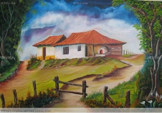 estampas típicas costarricenses en pintura - Buscar con Google