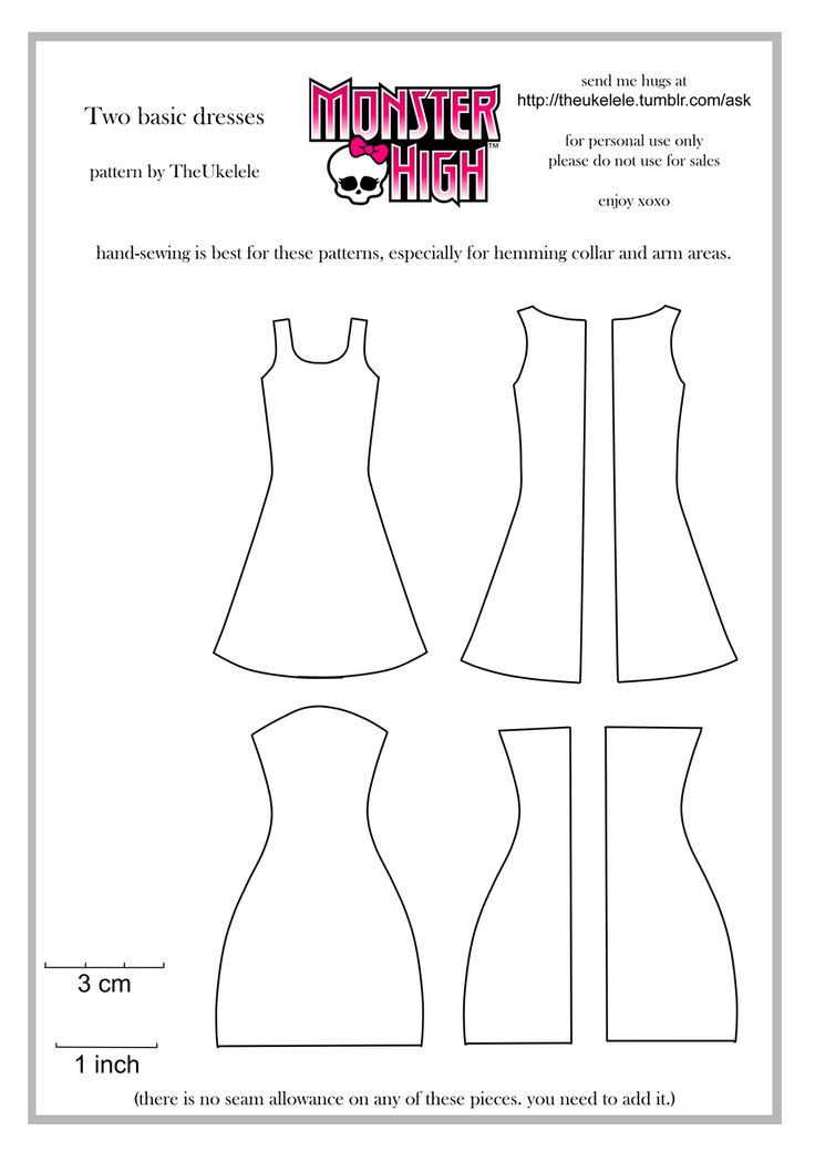 Monster High Two Basic Dress Patterns by TheUkelele.deviantart.com on @deviantART