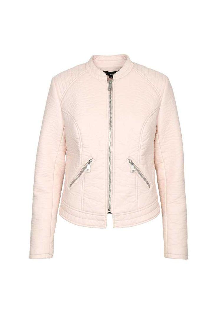 Tally Weijl Pastel Pink Zip Up Biker Jacket - Domodi.cz