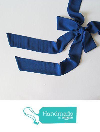Blue Skinny Scarf, Long Thin Scarf with Angled Ends, Crepe Chiffon Scarf, Bow Tie, Narrow Scarf, Neck Tie, Headband, Fashion Accessories from NaryaBoutique https://www.amazon.com/dp/B01MAXKFF5/ref=hnd_sw_r_pi_dp_FTrdybA8X18T8 #handmadeatamazon