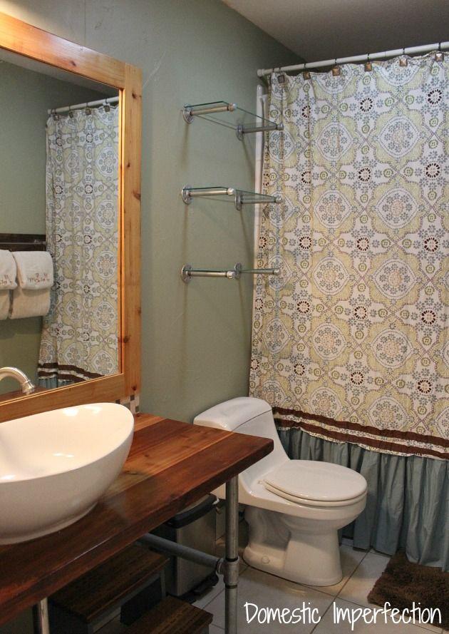 Beautiful Pipe Shelf Bathroom Shelves Kitchen Shelves Entryway Shelf