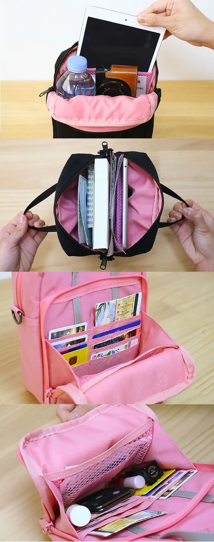 Wow! The next travel must-have is here! The Better Together Daily Bag is a spacious yet compact travel accessory. It's water resistant with handles and a detachable strap. Wear it on your shoulder or as a crossbody bag! With the endless pockets and compartments, there's plenty of space for your cards, cash, passport, iPad mini, makeup, maps, souvenirs, and more! Stylish and cute, it's the perfect travel-sized carry-all for your trips and adventures, so check it out!
