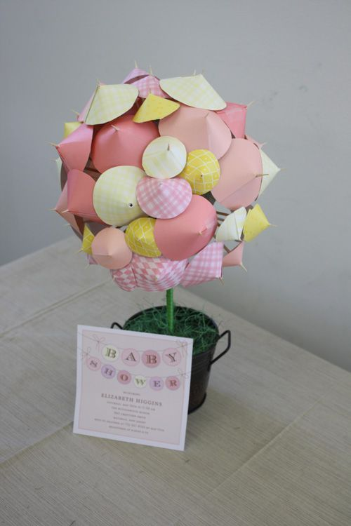 DIY Shower Topiary Great For Shower Or Umbrella Theme. Topiary  CenterpiecesBaby ...