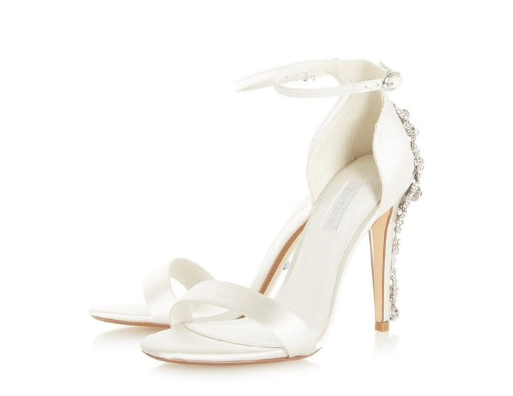 Dune London Bridal Wide Fit Two Part Heeled Shoe in Ivory cheap best prices 100% original online wLyBx7rZ