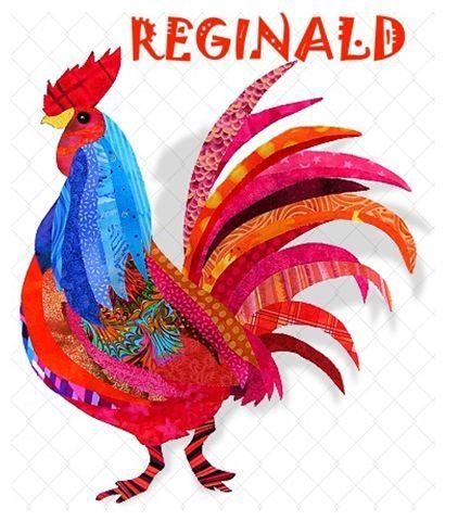 Radical Rooster Applique Quilt Pattern