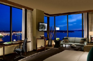 Hotel 1000, Seattle, WA #hotels Great views and awesome fill from the ceiling tubs.
