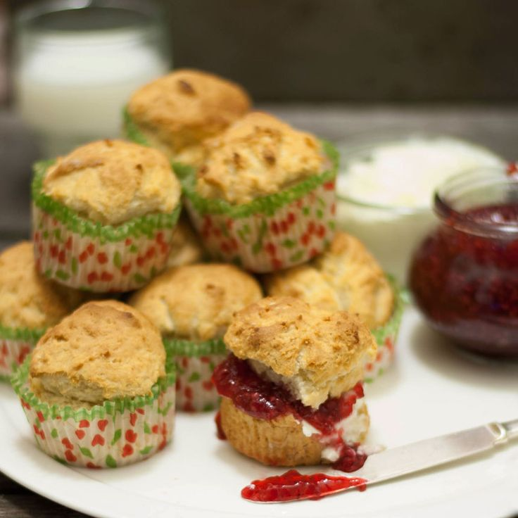 Goda, enkla scones i muffinsformar!