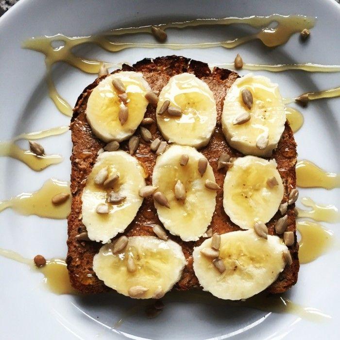 banane mandel butter toast leckere rezepte zum abnehmen fruehstueck n%d0%b0hrhaft