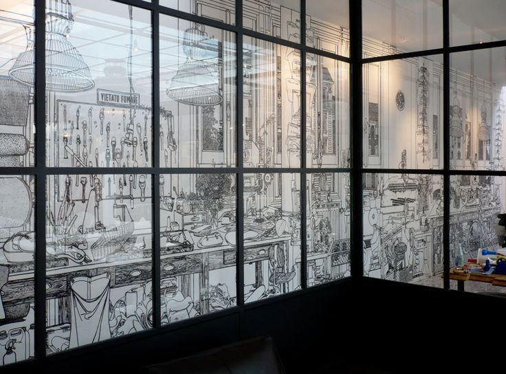 Charlotte Mann - a British artist who makes beautiful wall drawings and drawn room installations