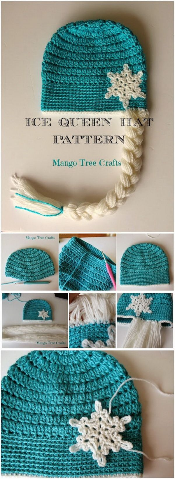 Ice Queen Crochet Hat Pattern. Another crochet hat pattern for Ice Queen lovers.