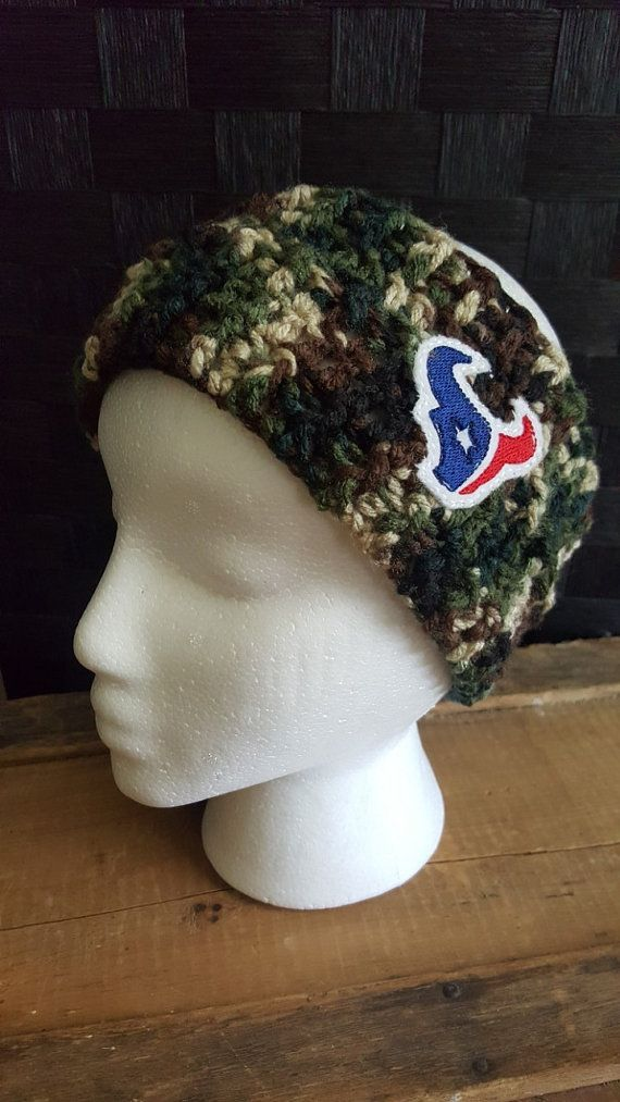 Check out this item in my Etsy shop https://www.etsy.com/listing/463055362/houston-texans-camouflage-ear-warmer-for