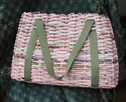 paper wicker bag - shopper di carta intrecciata