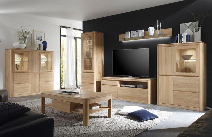 Nappali szekrénysor - 100% tömör tölgyfa