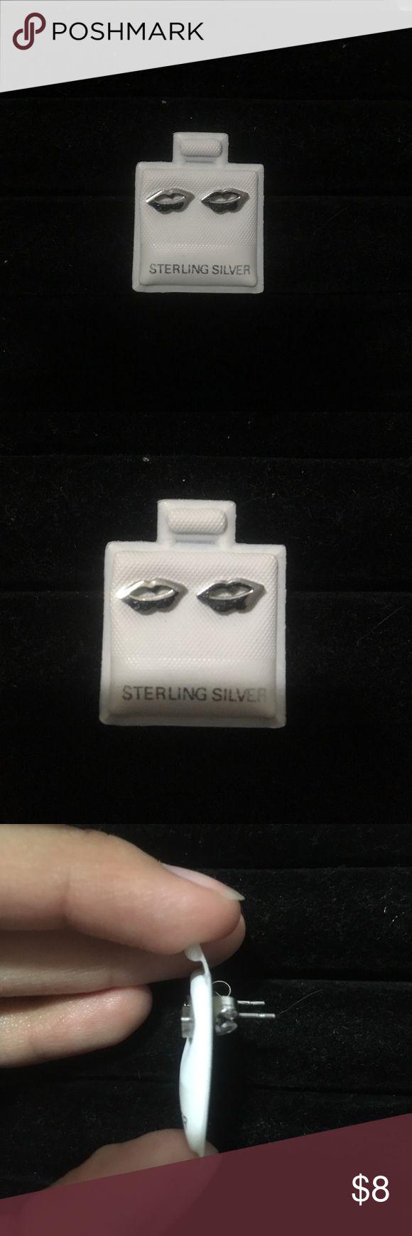 Lips studs Stainless steel! New!😊💕 Jewelry Earrings
