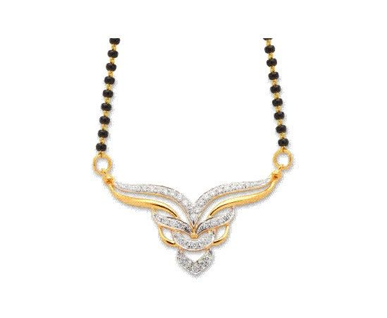 diamond mangalsutra design from KISNA #diamond #mangalsutra #indian #jewellery