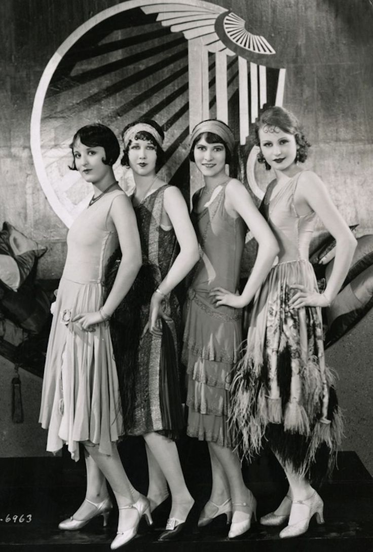 Chorus Girls on the set of Becky, 1927, Costume design by Clement Andre-Ani http://www.vonscharfenberg.com/search/?query=art+deco&records=250                                                                                                                                                      More