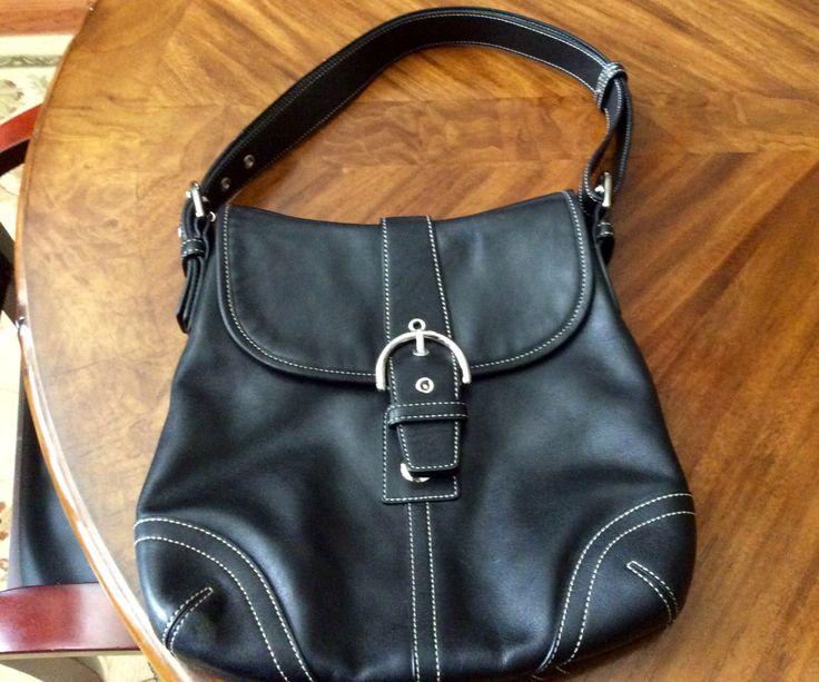 Vintage Coach Satchel Bag, Coach Purse, Black Coach Satchel, Coach Bag, No. A05S-9480 by DuTeauDiscoveries on Etsy https://www.etsy.com/listing/398712993/vintage-coach-satchel-bag-coach-purse