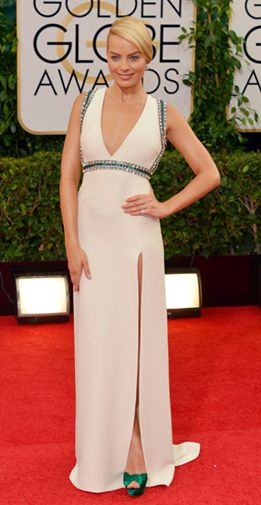 Margot Robbie looked incredible at the Golden Globes in Gucci