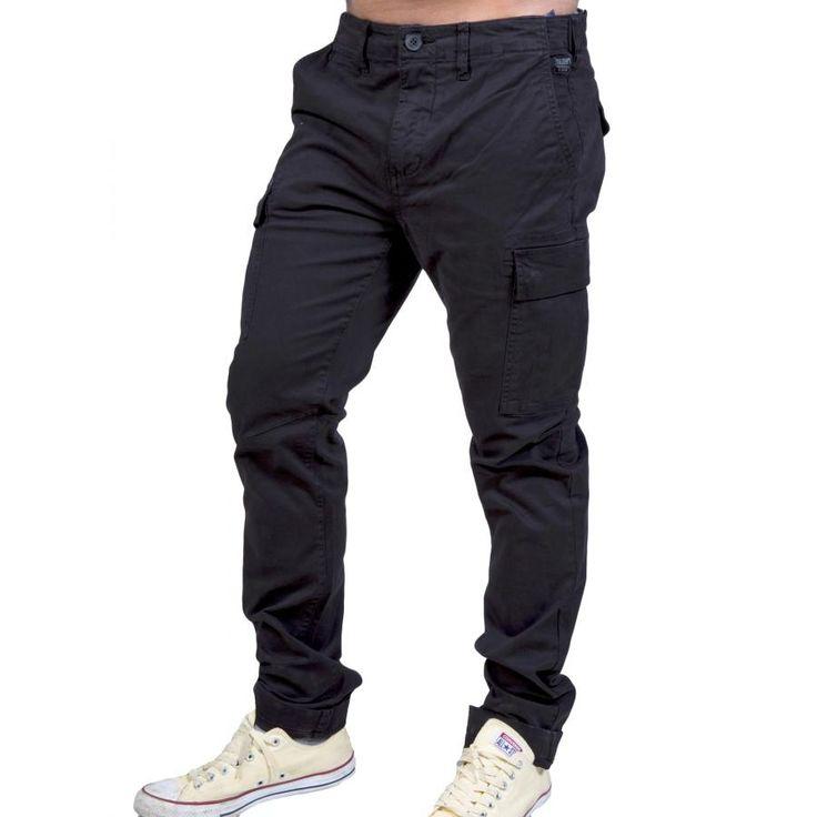 BASEHIT Ανδρικό παντελόνι με τσέπες, στενό πόδι