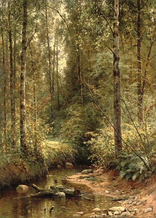 Ivan Shishkin – private collection. A Forest Stream (1882)
