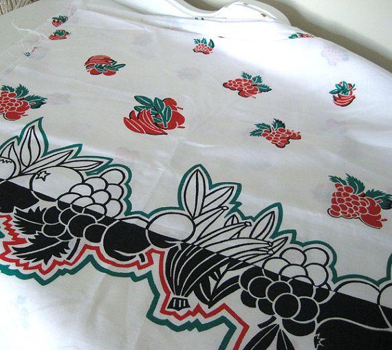 Vintage Fabric Carmen Maranda Chaquita Banana by NehiandZotz, $15.00