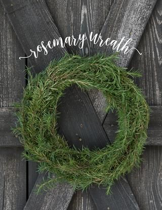 Rosemary Wreath   Smells and Looks Wonderful for the Holidays   P. Allen Smith
