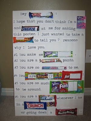 "Candy poster... ""Hey Baby: I hope that you don't think I'm a"