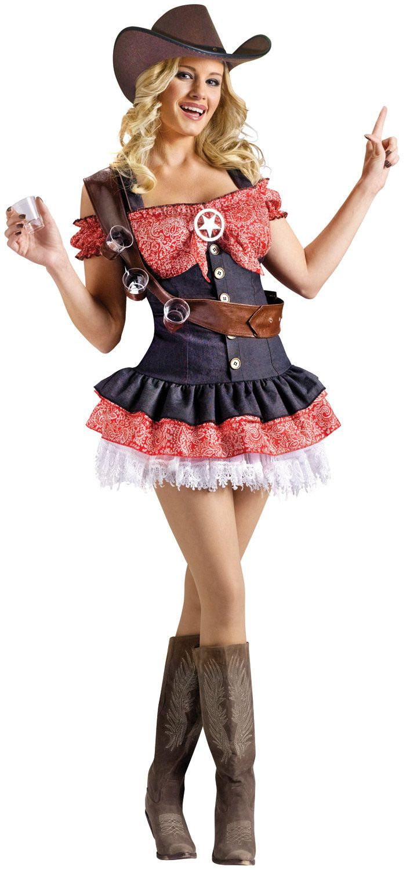 Sexy Shotgun Sheriff Cowgirl Costume - Mr. Costumes