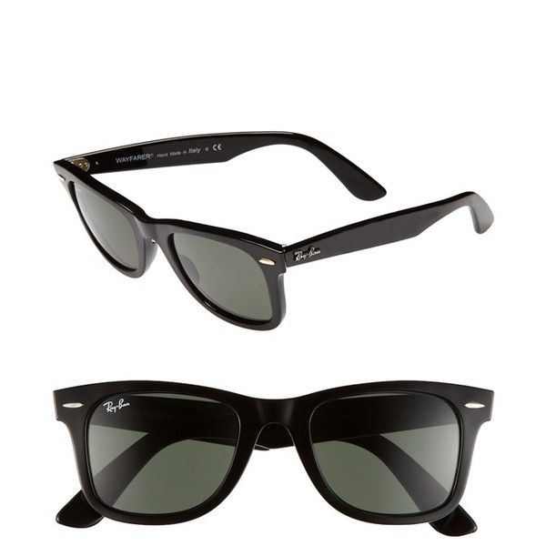 ray ban classic wayfarer black  17 Best ideas about Ray Ban Wayfarer Sizes on Pinterest