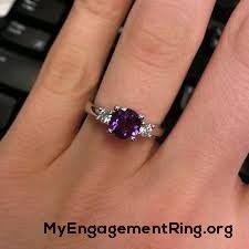 violet purple diamond engagement ring - My Engagement Ring