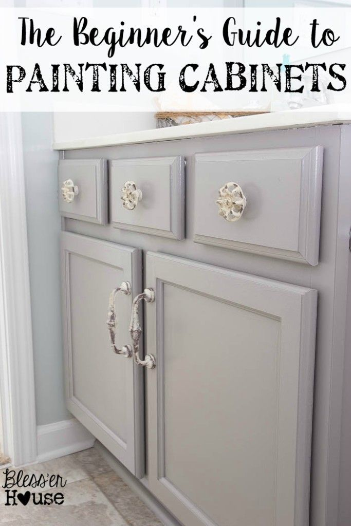 the beginners guide to painting cabinets - Bathroom Cabinets Knobs