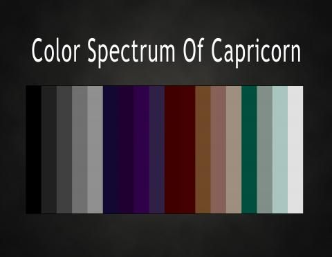 Color spectrum of Capricorn