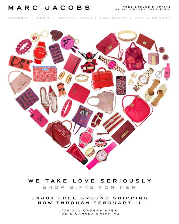 Marc Jacobs V-Day email design